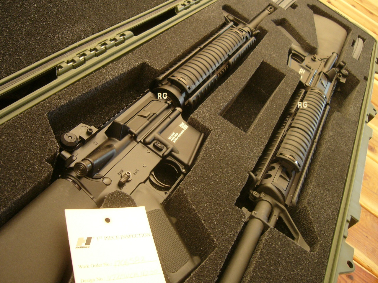SEQUENTIAL SET OF TWO M16 RIFLES CIVILIAN LEGAL NO STAMP NIB #22 AND #23  GOV'T ISSUE CASE